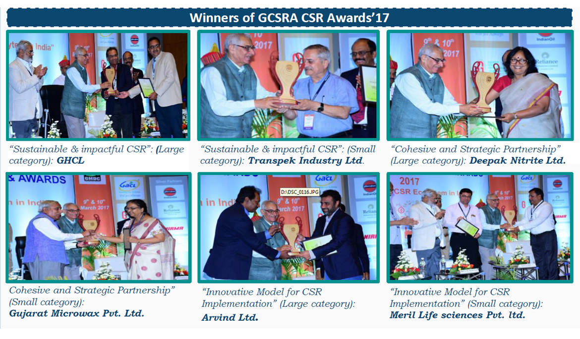 GCSRA CSR Awards, 2018